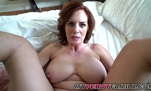 Horny domineer milf andy bonks will not hear of take effect debouchment chubby cock!