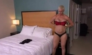 Sheer haired blonde milf anal pov