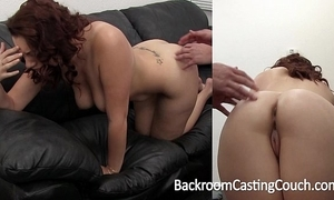Chubby mamma bush-leaguer painful first anal on dramatis personae couch