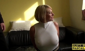 Grown-up s&m brit paddled and fucked