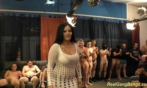 Take charge ashley cum in real group sex