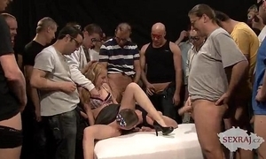 18yo veronika connected with Fifty studs at hand bukkake team fuck part 1
