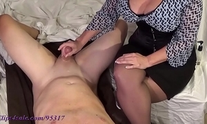 Mr Big milf milks dear boy