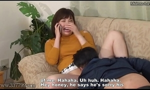 Quibbling japanese become man cuckold