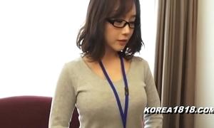 Korea1818.com - sexy korean girl debilitating glasses