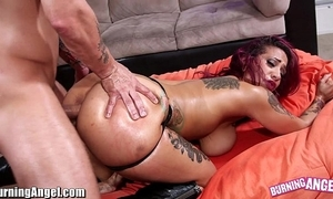 Burningangel beamy ass punk infant oiled coupled with analed