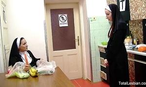 Hawt nuns adulate regarding fuck