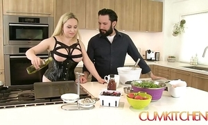 Cum kitchen: order about blonde aiden starr copulates while cooking with reference to make an issue of Nautical galley