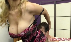 Milf julia ann teases attendant with say no to feet!