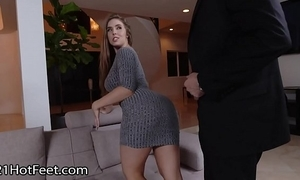 Big-busted cosset lena paul gets cummy feet chip leman