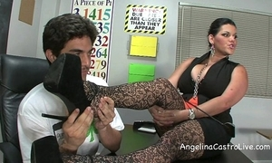Prex angelina castro threeway footfetish bj alongside class!