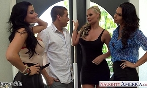 Wives jessica jaymes, phoenix marie plus romi rain light of one's life in foursome