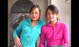 Two bonny latinas tami fabiana and diana delgado facialized stub getting fucke