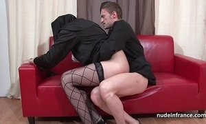 Interesting youthful french nun impenetrable depths anal drilled fisted and cum around mouth wide of a catch officiant