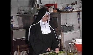 German nun fucked into ass with regard to kitchen