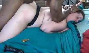 Fat swain back-breaking fat black flannel