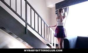 Mybabysitters - cute youthful babysitter bonks pater