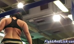 Wrestling hotties ruffle their bigtits