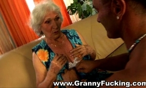 Matured granny getting drilled at the end of one's tether a generous weasel words