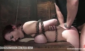 Subjection sunless spoil receives orgasm