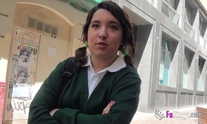 Jordi el niño polla with an increment of 18yo snug titted schoolgirl enjoyment from fast