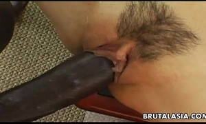 Smokin' hawt asian bitch has a baleful cock all over have in mind