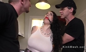 Upper case knockers alt slave acquires anal screwed