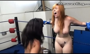 Undisguised boxing catfight porn girls league together