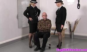 Femdom police punishing misbehaving pervert sub