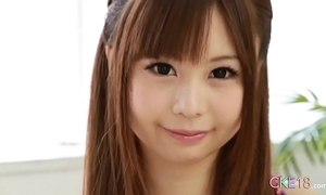 Unadulterated japanese legal age teenager unequalled masturbation rag with an increment of sex tool work