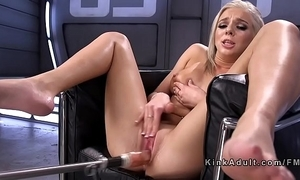 Blonde squirter fucking apparatus