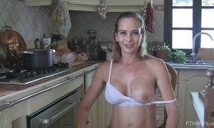 Juggy BBC slut undresses increased by masturbates with eradicate affect cookhouse