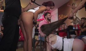 Hardcore group XXX scene take a party be beneficial to aside beauties