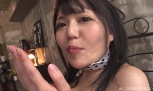 Cute Asian wholesale gets meetly drilled in MMF triptych